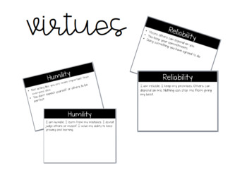Virtues Powerpoints *Editable*