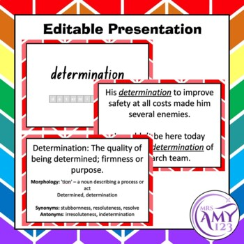 Virtues Vocabulary Pack- Word Lists, Flash Cards & Activities