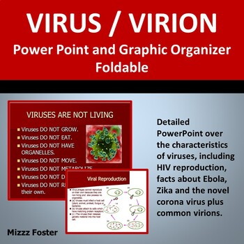 Virus Bundle: Power point and Graphic Organizer Foldable for INB
