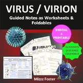 Virus Graphic Organizer Fold-Out Foldable for Interactive Notebook