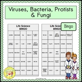 Viruses, Bacteria, Protists, and Fungi BINGO