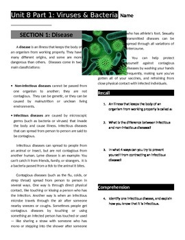 Viruses & Bacteria Workbook
