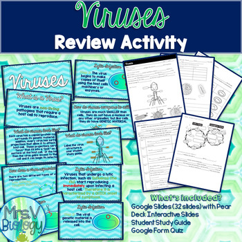 Viruses Notes/Review-STAAR Aligned-Google Slides and Pear Deck
