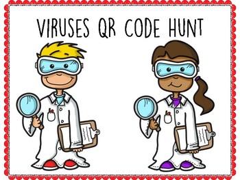 Viruses QR Code Hunt (Content Review or Notebook Quiz)