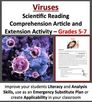 Viruses - Scientific Reading Comprehension Activity – Grades 5-7