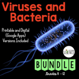 Virus and Bacteria Bundle   Distance Learning