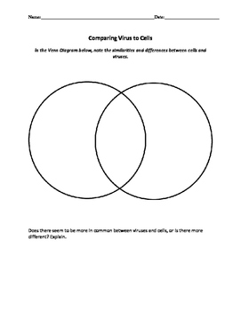 Biology: Viruses and Bacteria: Worksheets!