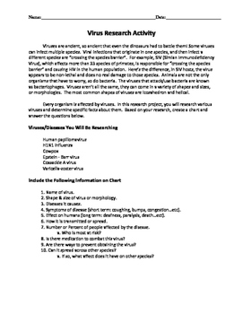Biology: Viruses and Bacteria: Worksheets! by Beverlys Science Classroom