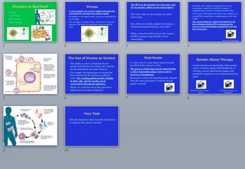 Viruses in Bio Technology - A Senior Biology PowerPoint Lesson & Notes