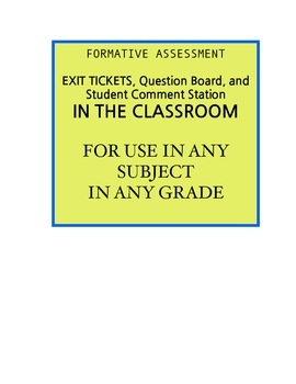 Visible Formative Assessment For Any Grade/Any Subject