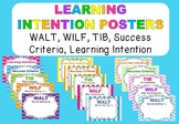 Learning Intention Posters WALT, WILF, TIB, Success Criteria