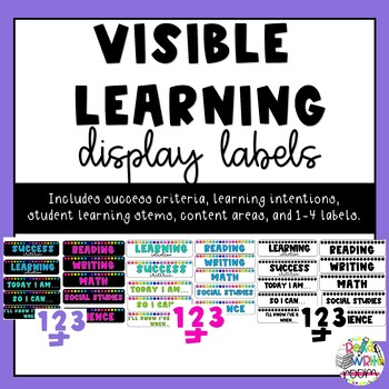 Visible Learning Display Labels