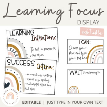 Visible Learning Display | Neutral Rainbow Theme