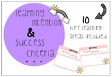 Visible Learning - Learning Intention and Success Criteria