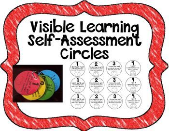 Visible Learning Self-Assessment Circles