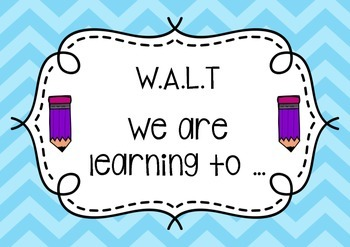 Visible Learning: WALT, WILF, TIB