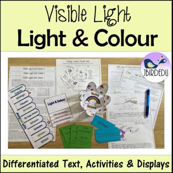 Light and Colour. Differentiated Information Texts. PACKET