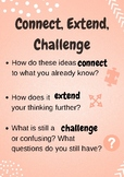 Visible Thinking Routine: Connect Extend Challenge Poster