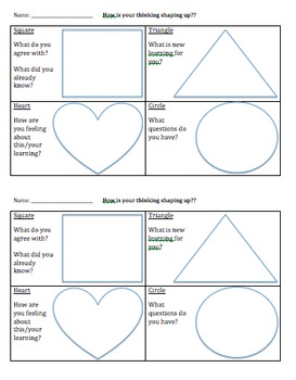 Visible Thinking Strategies - How is your thinking shaping up?