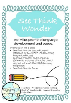 See-Think-Wonder: Visible Thinking with the EAL/D Learning Progression