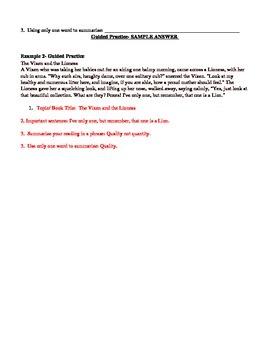 Visible thinking - Summarizing
