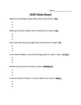 Vision Board Anchor Chart
