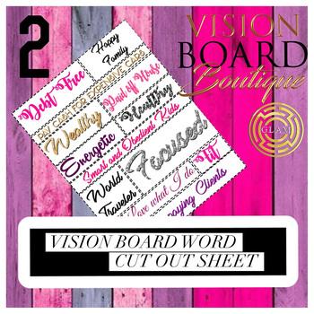 Vision Board Boutique Destiny Board GLAM Sparkle vision board sheet 4
