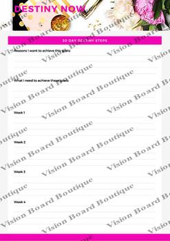 Vision Board DESTINY NOW's Worksheet - 30 Day Destiny Steps