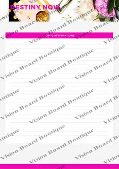 Vision Board DESTINY NOW's Worksheet - Top 10 Affirmations