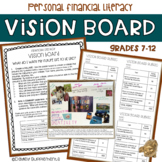 Financial Literacy Vision Board - Goals, Wants, Needs HS