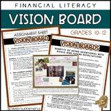 Financial Literacy Vision Board - Goals, Wants, Needs