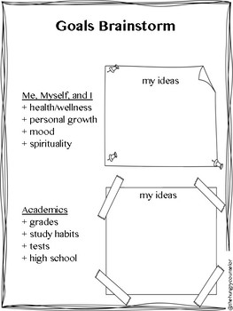 Vision Board Handouts and Lesson Plans (classroom guidance or small group)