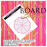 Vision Board Printable Self Discovery Wheel & Vision Mapping