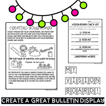 New Years 2020 Bulletin Board Ideas Vision Board Lesson