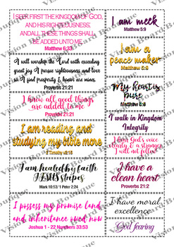 Vision Board Quote Cut outs   Quote Printable sheets   Wall ART Quote