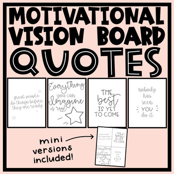 Vision Board Quotes by The Teacher House | Teachers Pay Teachers