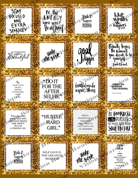 Vision Board Quotes   Gold   Positive Affirmation   Boutique Style Letter