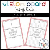 Vision Board Template - FREEBIE
