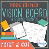 Vision Board and Writing Prompts Printables, Book Themed