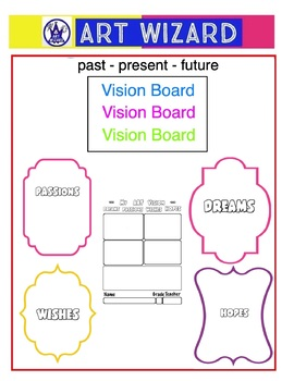 Vision Board for Art - Back to School Collage (7 pages), Art Lesson