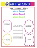 Vision Board for Art - Back to School Collage (6 pages), A