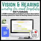 Vision & Hearing Email Template Options