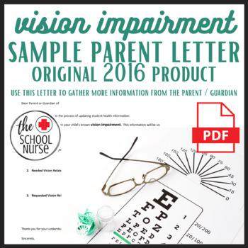 Vision Impairment Parent Letter PDF