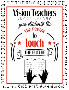 Vision Teachers Give the Power to Touch the Future Poster