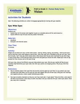 Vision Teacher's Guide (Pre-K to Grade 2)
