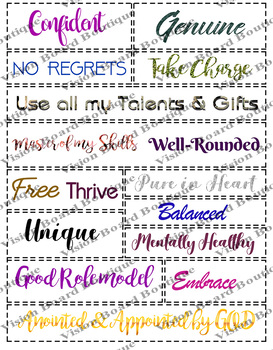 Vision board quote kit, printable quotes, motivation, spiritual goals life goals