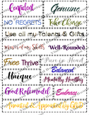 Vision board quote kit, printable quotes, motivation, spir