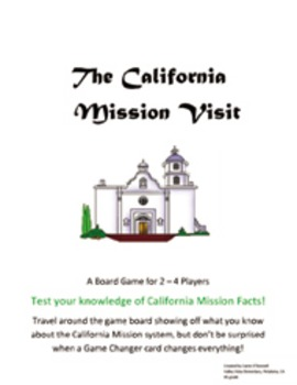Visit the California Missions Board Game