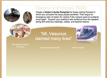 Evacuation Plan for Pompeii's Welcome Brochure- Template