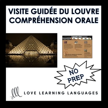 French Listening Comprehension Exercise - Visit the Louvre - Distance Learning